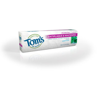 Tom's of Maine Antiplaque & Whitening, Fluoride-Free Natural Toothpaste, Peppermint