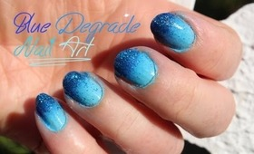 Blue Degrade Nail art ♡ | Marika