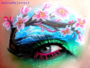 used BSC eyeshadows & neon glitters