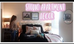 Studio Apartment Decorate With Me + Clean With Me
