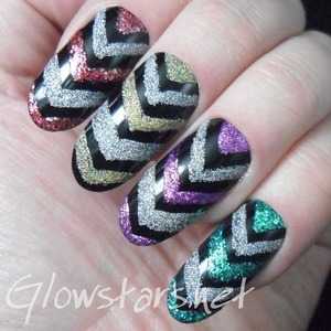 For more nail art and pictures of this mani visit http://Glowstars.net