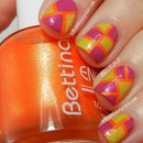 Tropical Colorblocked Nails