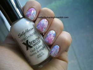 Sally Hansen Xtreme Wear in White On Revlon Dreame Revlon Top Speed Cupid