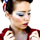 4th of July Makeup and Hair (Up Close)