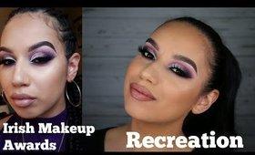 Smokey Purple Cut Crease with Glitter (Irish Makeup Awards recreation) | ChristineMUA