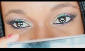 Yellow, Green and Purple Smokey Eye (MUA)