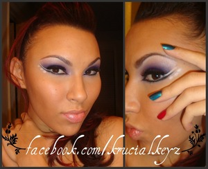 Something a Little Different For NYE I Call This Purple Midnight Shooting Star Hope You Like :)