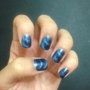 Blue Magnetic Nails