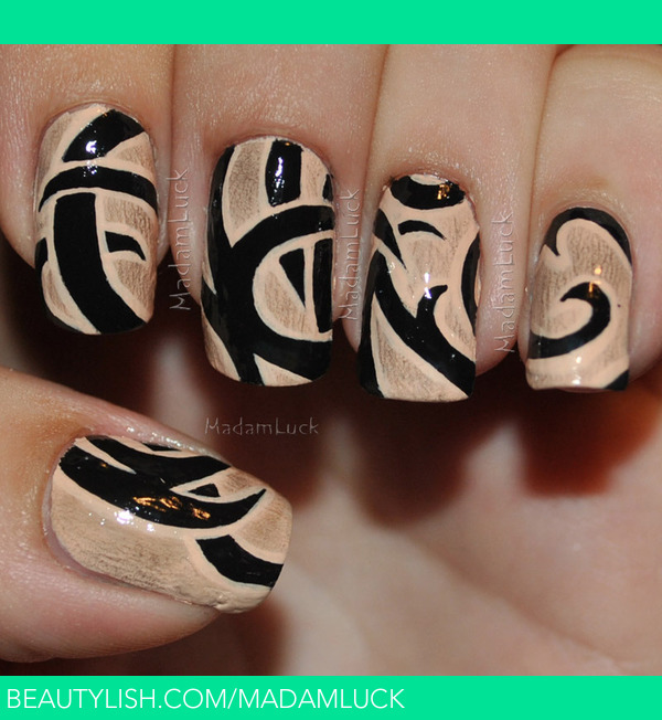 Tribal tattoo inspired nail art amanda ss madamluck photo added sep 01 2012 prinsesfo Image collections