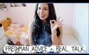 High School Freshman Advice + REAL Talk! ♡