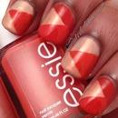 Nail Art using Essie Meet Me At Sunset and Nubar Angel