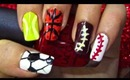 sports day-nailart tutorial.... :-)