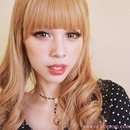 Strawberry Lips Gyaru look