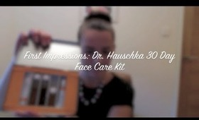 First Impressions: Dr Hauschka 30 Day Face Care Kit