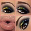 Makeup with Swarovski Crystals