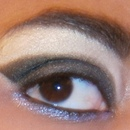 Smoky Eye with Purple Glitter