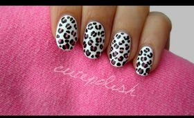 Easy Ombre Leopard Nails