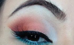 Spring Makeup Tutorial - Teal and Coral
