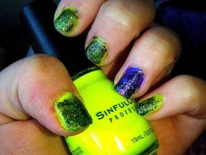 Neon Grunge Nails