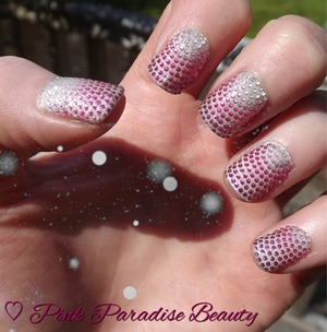 Essie - Ballet Slippers used under Bling Nail Wraps