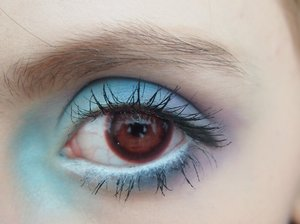 This is a blue and purple look I did today with my homemade colored contacts!