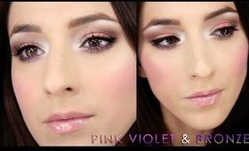 Pink, Violet & Bronze Makeup czyli zamówiony na blogu łosoś:)