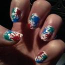 Spot of colour - nails