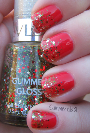 China Glaze Make Some Noise and a glitter franken