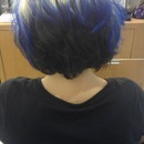 Blue Dip Dyed!