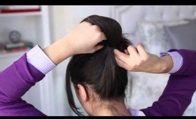 Inside Out Ponytail Bun