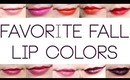 Fall and Winter Lip Color Favorites