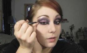 My Wicked Ways Halloween Tutorial - Hot Pink Purple & Black Smokey Eyes - The Eyes Have It