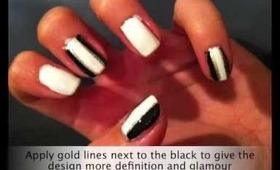 cute tuxedo/smoking nail art