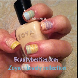 Zoya Lovely collection nail art stripes