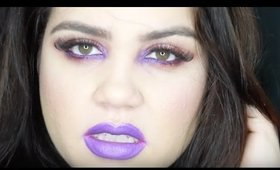Holiday Pop of Color Look | Purple