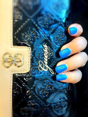 The blue nailpolish is from bourjois- paris and top coat is from essie