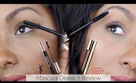 Clarins Supra-Volume Mascara & YSL The Shock Mascara | DEMO & REVIEW | Mo Makeup Mo Beauty