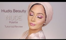HUDA BEAUTY New NUDE Palette Tutorial *Chit Chat* | Nura Afia