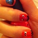 PAC MAN inspired nails