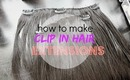 How to make clip in hair extensions! | DIY