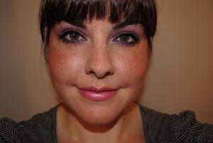 Look I did using the Avon True Color eyeshadow quad in Vivid Violet
