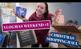 VLOGMAS WEEKEND  CHRISTMAS SHOPPING HAUL AND UNBOXING