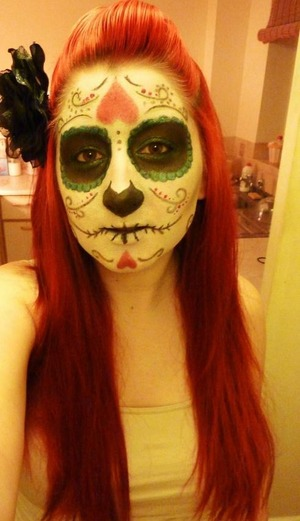 My 2012 Halloween Make-Up look Sugar Skull x  Hope you like it!  Sophie x