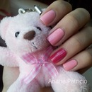 Pink with Accent Nail