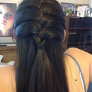 Half-up-half-down french braid