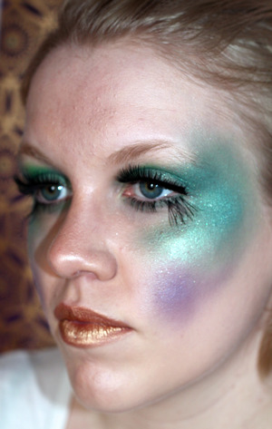 Rich use of colour and extended eye design