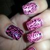 💅Pink n black nails