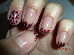 pink & purple leopard French