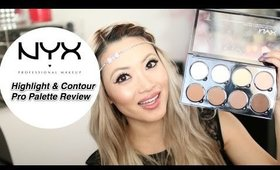 NEW NYX Highlight & Contour Palette Pro Review and Swatches