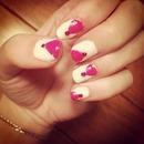 pink&white nails